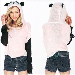 Wildfox White Label Panda Hoodie Sweater